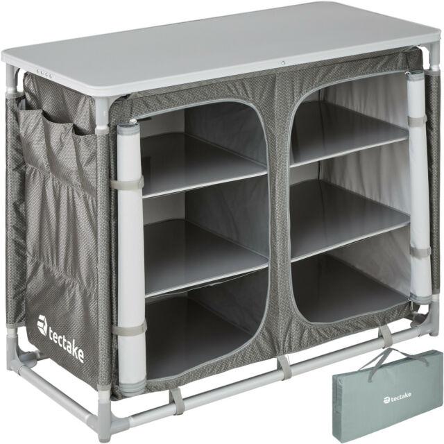 Campingküche Alu Küchenbox Camping Faltschrank Faltbar Vorzelt Schwarz B-Ware