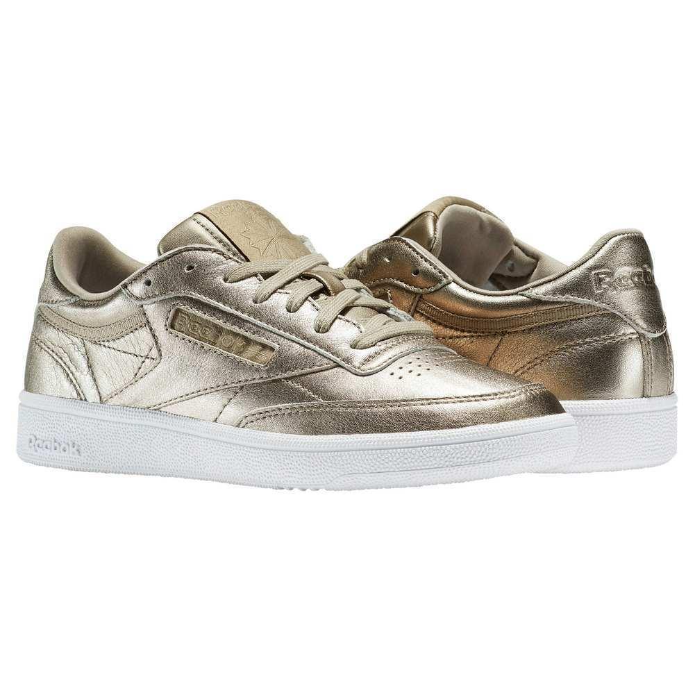 Reebok Club C 85 Fundido Metal Clásico Para Mujer Reino Reino Mujer Unido 8.5 de oro antiguo Zapatillas Zapatos 3b70be