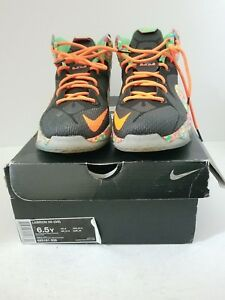 04999ad458c Nike Lebron XII 12 (GS) Fruity Pebbles Multi-Color 685181-008 SZ 6.5 ...