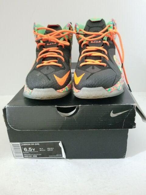 lowest price fe3f3 deaaf Nike Lebron XII 12 (GS) Fruity Pebbles Multi-Color 685181-008 SZ 6.5y XI X  IX VI