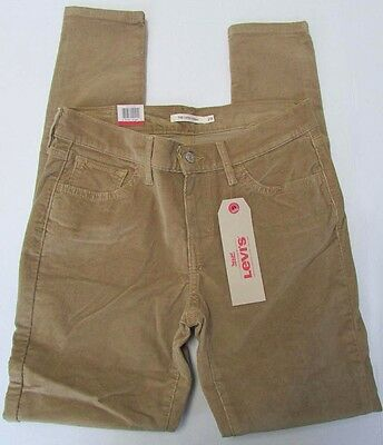 NWT Levis 710 Jeans Super Skinny Beige Corduroy Sizes 25 26 27 28 29