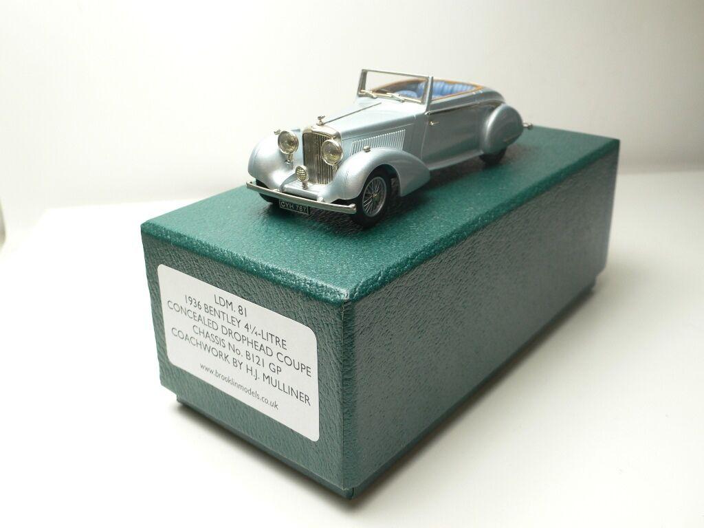BENTLEY BENTLEY BENTLEY 4 1 4 LITRE CONCEALED DROPHEAD COUPE 1936 BROOKLIN LDM.81 1 43 e211ad