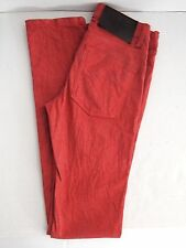 Naked & Famous Mens Red Stretch Skinny Guy Jeans Made in Canada 29X37