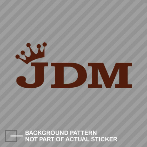 JDM King Sticker Decal Vinyl crown type b