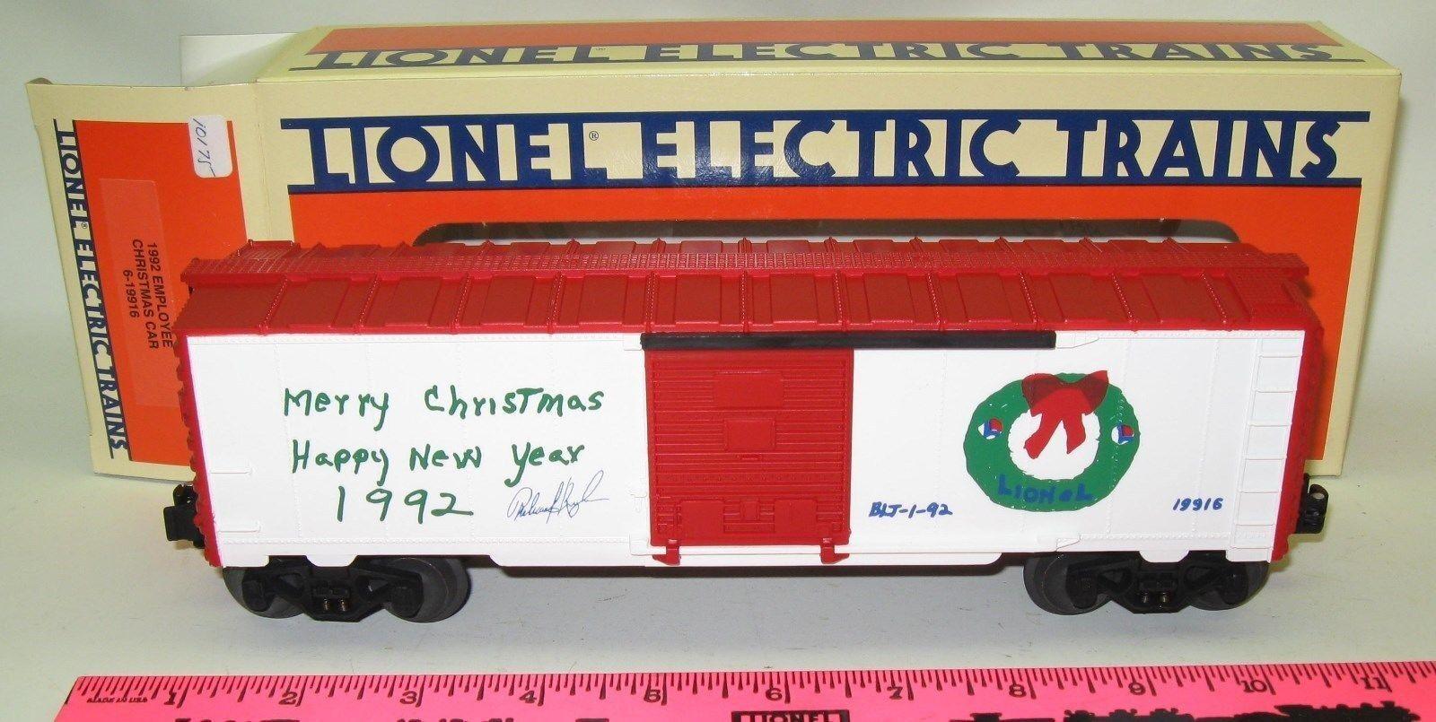 Lionel NOS in box 1992 Employee X-mas car 6-19916