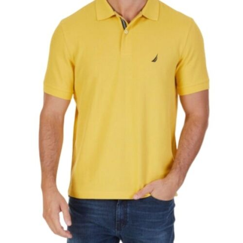 Nautica Performance Deck Shirt Yellow Size Large