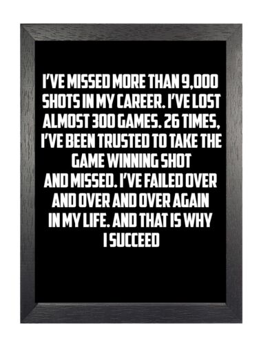 Michael Jordan 3 American Basketball Player Motivation Inspiration Quote Poster