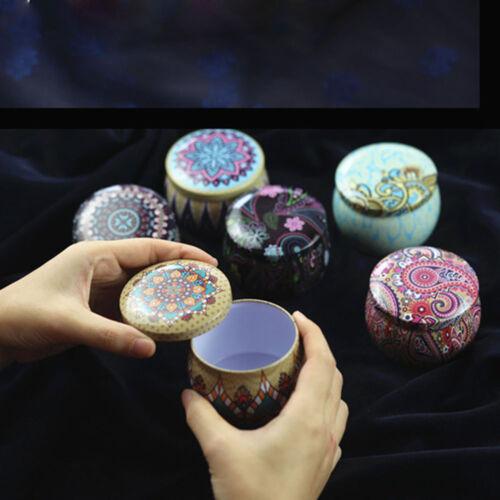 Kleine runde Blechdose Cookie Tee Verpackung Drum Candy Tin Box Case Jar
