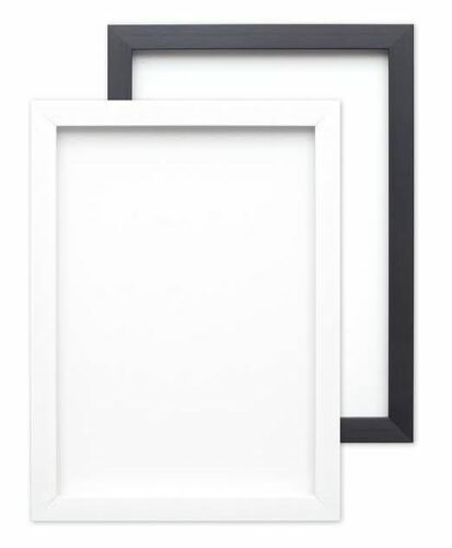 Brushed Black White Picture Frame Photo Frame Poster Frame A4 A3