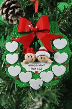PERSONALISED CHRISTMAS TREE DECORATION ORNAMENT SNOW GRANDPARENTS