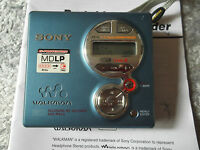 Sony md walkman MZ-R410 Blue minidisc recorder MDLP Player