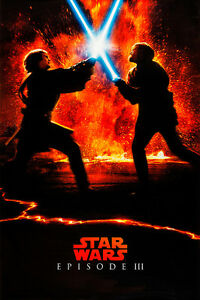 Star Wars Episode Iii Revenge Of The Sith Iii Movie Poster A1 Canvas Print Ebay