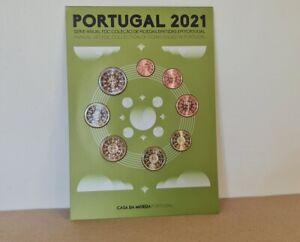 Série Coffret FdC Euros Portugal 2021 - 8 pièces 1 centime à 2 Euros