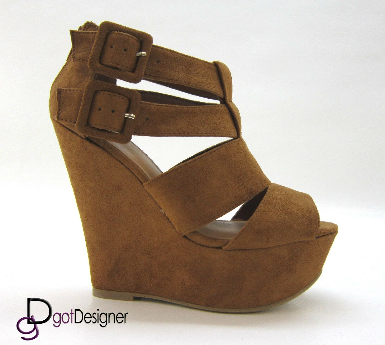 Womens Summer Fashion Wedges Party shoes Pumps Platforms Sandals Heels Zip Sexy