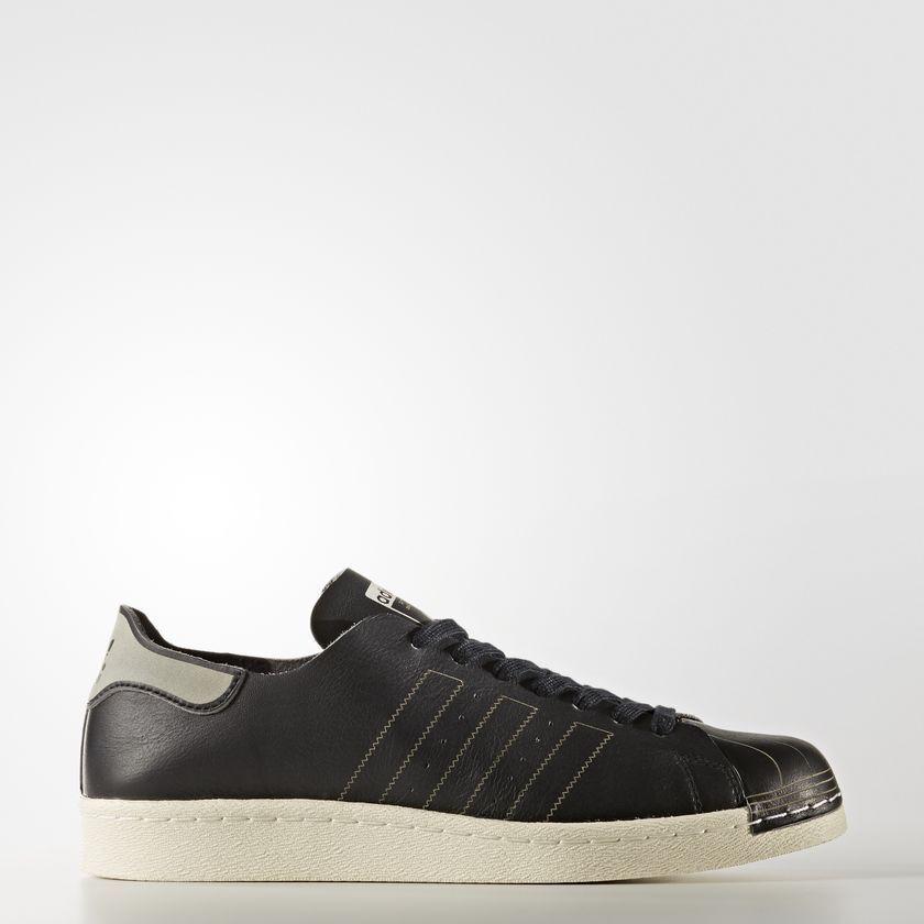 Adidas Mens Black White Superstar 80's DECON Half Shell BZ0110 Size 9 US Leather