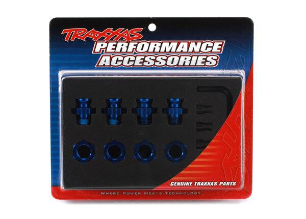Traxxas Aluminum Wheel Hubs & Nuts Adapters 17mm Short 6856X 6856X 6856X bluee cb1133