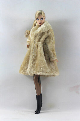 Lovely Fashion Winter fur Coats Clothes//Outfit For 11.5in.Doll C034