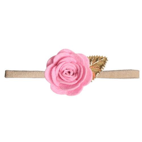 1PC Baby Girls Elastic Headband Hairband Flower Hair Bow Hair Accessories