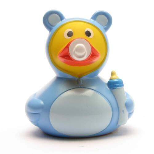 Badeente Baby Ente Junge blau Quietschentchen Quietscheente Gummiente