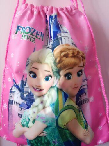 Girl Child FROZEN back to School Library Swim Draw String Pink shoulder Bag