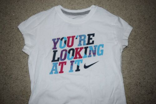 New Girl/'s Nike White You/'re Looking at it T-shirt size Medium