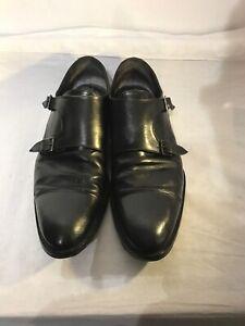 Russell-amp-Bromley-Para-Hombre-Negro-Correa-de-Cuero-Monje-Zapatos-Talla-45-ref-Ba03