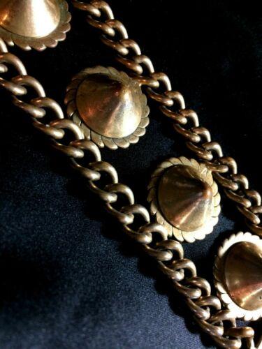 VINTAGE ORNATE GOLD TONE HEFTY BRACELET