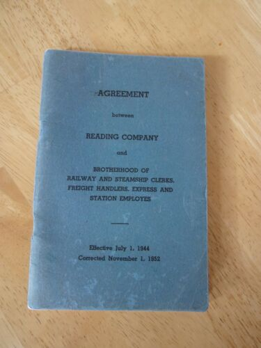 Reading Railroad Rule Book 1952