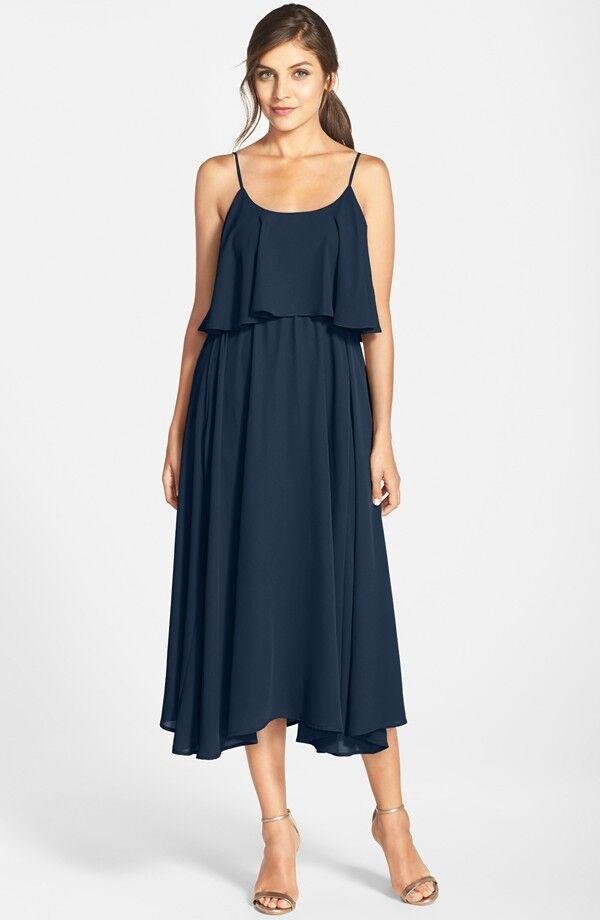 """Nueva Papel Corona  Lauren Conrad """"Britton"""" té de longitud de Crepe Vestido Talla Xxs (0)  275  grandes ahorros"""