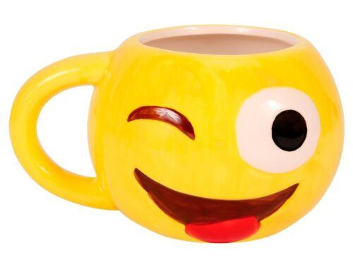 Emojicon Tasse Henkelbecher cool Gelb Funny Bürotasse Frühstück Emoticon