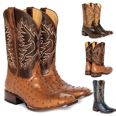 Womens Round Toe Embroidered Western Cowboy Boots Cowgirl Mid Wide Calf New
