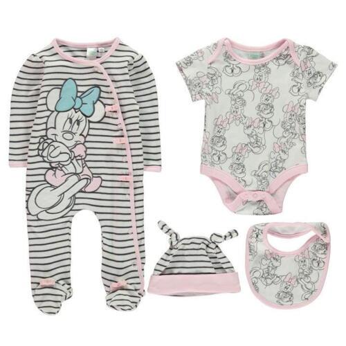 56-92 Mädchen Junge Minnie Mouse Maus Tigger Gr Disney Baby Strampler Set 3tlg