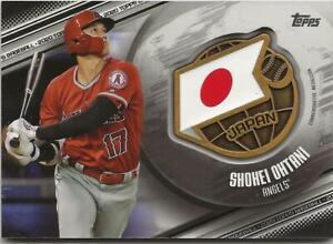 2020 Topps Series 1 SHOHEI OHTANI Global Game Medallion BLACK /149 Angels