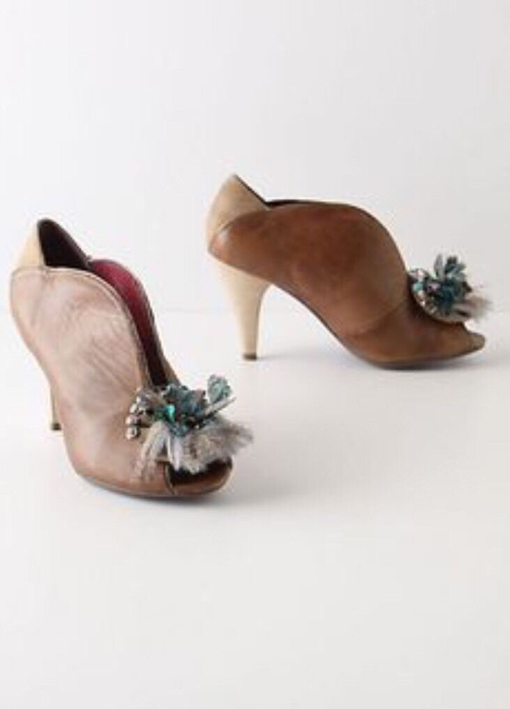Anthropologie New Pavo Heels By Poetic License Dimensione Eu 37