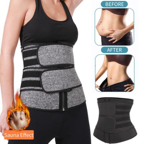 Men Women Sauna Trimmer Belt Sweat Sports Girdle Waist Trainer Slimming Shaper