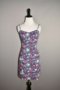 LILLY-PULITZER-168-McCallum-Fitted-Tie-Back-Dress-in-Sparks-Fly-Glow-Size-00