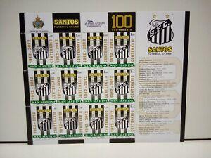 Francobolli-San-Marino-Foglietto-Santos-footbal-club-Centenario-2012-Nuovo-MNH