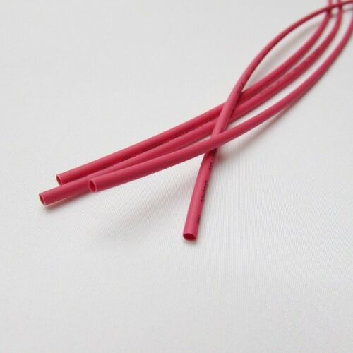 """1//32/"""" ID Red Heat Shrink Tube 2:1 ratio wrap 6x9/"""" = 4 ft inch//feet//to 0.8mm"""