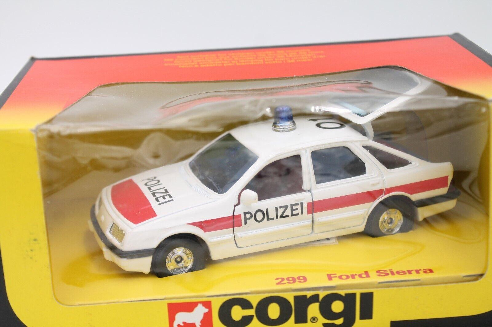 Corgi Juguetes 299  ford sierra policía  1 36  embalaje original  1983