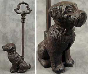 Image is loading SITTING-DOG-Cast-Iron-DOOR-PORTER-DOORSTOP-DECORATIVE- & SITTING DOG Cast Iron DOOR PORTER DOORSTOP ~DECORATIVE CARRY HANDLE ...