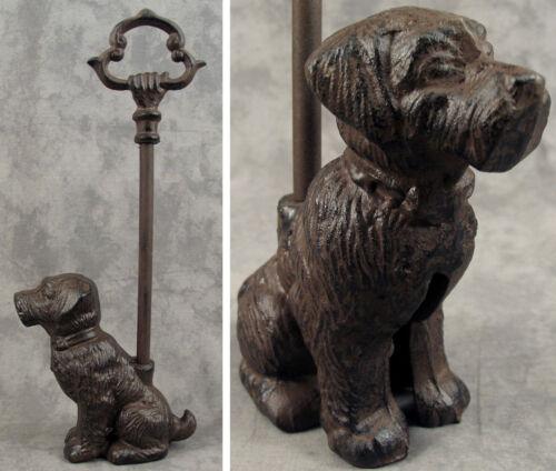 SITTING DOG Cast Iron DOOR PORTER DOORSTOP ~DECORATIVE CARRY HANDLE~