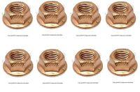Bmw E10 E24 E30 E31 E32 E34 Set Of 8 Copper Lock Nut (8 Mm) - Exhaust O.e.m.