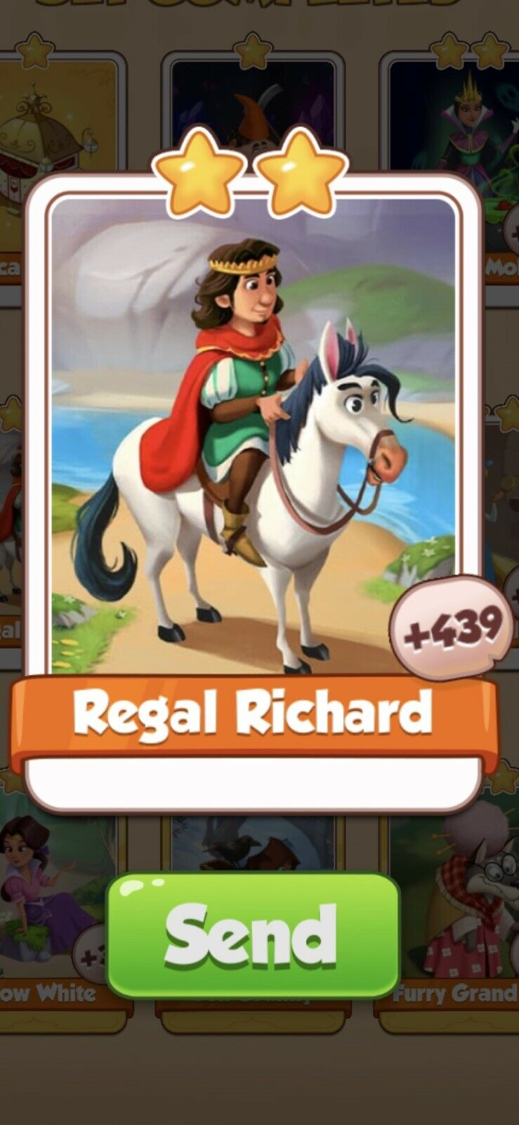 Coin Master Fairy Tales, Regal Richard Card (Fast Sending)