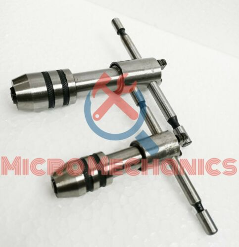 """4MM to 12.7MM Set Of 2 Ratchet Type T Handle Tap Wrench Capacity 5//32/"""" To 1//2/"""""""
