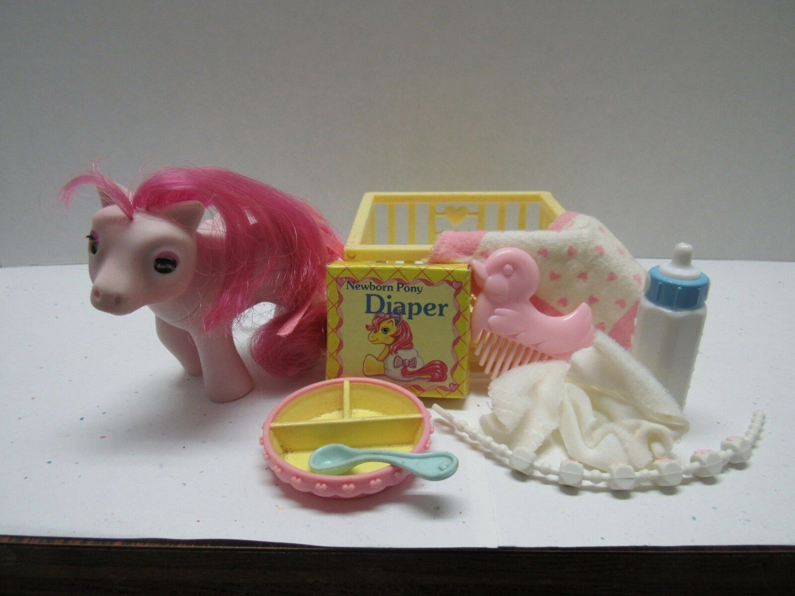 MY LITTLE PONY G1 VINTAGE BEDDY BYE EYES BBE BABY HEART THROB  ALL ACCESSORIES