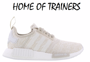 84f719a62 Adidas NMD R1 Roller Knit Talc White Women s Trainers CG2999 (PTI ...