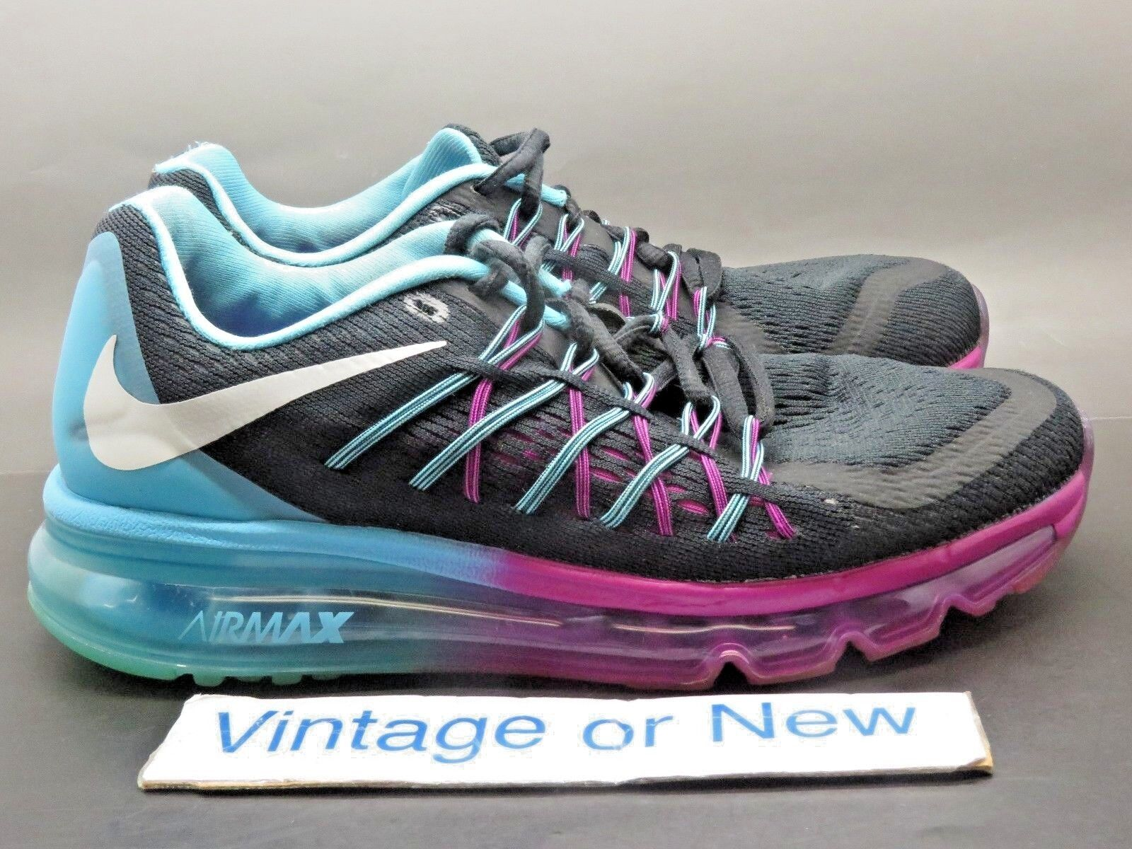 huge selection of a75e1 988f1 Women s Nike Air Max 2015 Black White Clearwater Running Running Running  Shoes 698903-004 sz 6.5 321c48