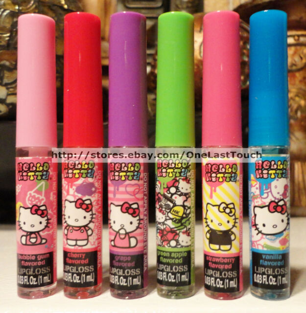 *Sanrio HELLO KITTY Liquid Glitter Lip Gloss SCENTED/FLAVORED *YOU CHOOSE* 1/2