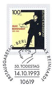 Capable Rfa 1993: Max Reinhardt Nº 1703 Avec Propre De Berlin Ersttags Cachet! 1602-l! 1602fr-fr Afficher Le Titre D'origine
