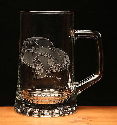 Porsche 911 Turbo engraved glass tankard gift present